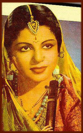 M. S. Subbulakshmi - M. S. Subbulakshmi wearing  saree of a colour which has become synonymous to her name – MS Blue.