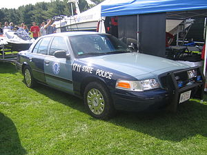 English: A Ford Massachusetts State Police cru...