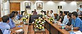 Mukhtar Abbas Naqvi interacting with a group of IAS Probationers of Jharkhand cadre (2014 Batch) presently posted in various MinistriesDepartments as Assistant Secretaries, in New Delhi.jpg