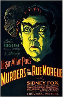 <i>Murders in the Rue Morgue</i> (1932 film) 1932 film by Robert Florey