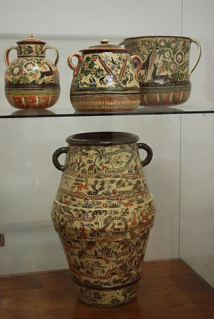 Ceramics of Jalisco - High fire ceramic with traditional designs at the Museo Regional de la Ceramica, Tlaquepaque.