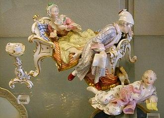 Porcelain Museum (Florence) - Image: Museo delle porcellane di Firenze, manifattura tedesca, statuina 02