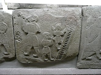 Prehistoric art - Hittite relief from Alaca Höyük Sphinx Gate, 14th to 12th century BCE