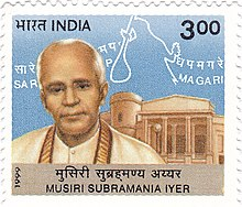 Musiri Subramania Iyer 1999 stamp of India.jpg
