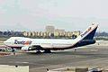N616FF B747-212B Tower Air LAX 18JAN99 (6505933603).jpg