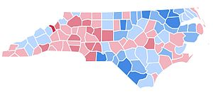 United States presidential election in North Carolina, 1992