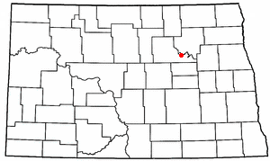 Fort Totten, North Dakota - Image: ND Map doton Fort Totten