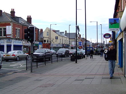 West Road Shopping Area in Newcastle's West End has a large multi-ethnic community. NE-Westgate Road 9001.JPG