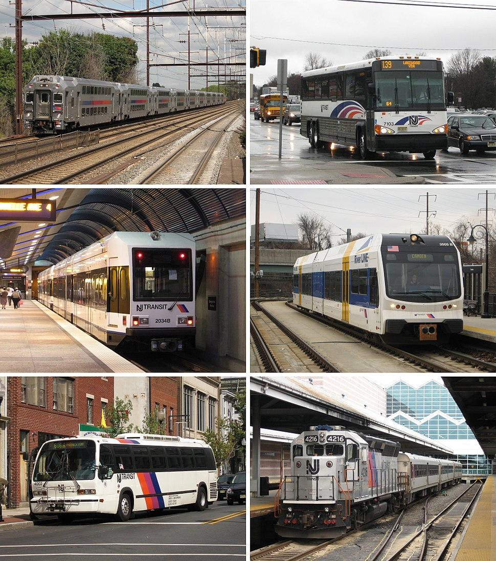 NJT services samples rail bus and light rail