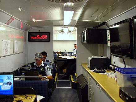 Officers in operational uniforms NSW Police Force Command Post @ Operation EXERT - Flickr - Highway Patrol Images.jpg