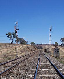 uq semaphore signals, 3 position auto (right) and 2 position distant (left)