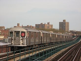 3 (New York City Subway service) - Image: NYC Subway 1551