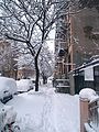 NYC Blizzard January 2011 East Village 5.jpg