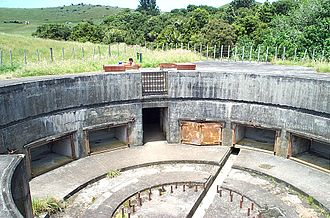 Coastal fortifications of New Zealand - 9.2 inch gun emplacement at Stony Batter.