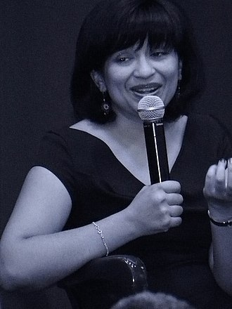 Nalini Singh (author) - Singh engaging audience at book signing in New York.