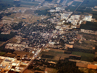 Nappanee, Indiana - Nappanee from above.
