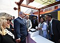 Narendra Modi and the Prime Minister of Israel, Mr. Benjamin Netanyahu visiting the Startup Exhibition and interacting with innovators and Startup CEOs at iCreate Center, at Deo Dholera Village, in Ahmedabad, Gujarat.jpg