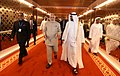 Narendra Modi being welcomed by Crown Prince of Abu Dhabi, Deputy Supreme Commander of U.A.E. Armed Forces, General Sheikh Mohammed Bin Zayed Al Nahyan, on his arrival, at Abu Dhabi, United Arab Emirates (1).jpg