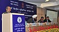 Narendra Singh Tomar addressing the 54th Central Geological Programming Board Meeting, in New Delhi on February 05, 2015. The Secretary, Ministry of Mines, Dr. Anup K. Pujari is also seen.jpg