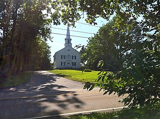 North Stonington, Connecticut - First Baptist Church on Pendleton Hill in 2011
