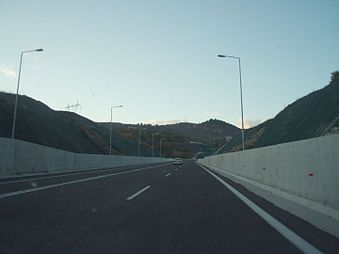National Road 2, Greece - Edessa ring road - Rizari-Agras section 01M1.jpg