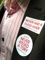 Never Kissed A Tory lapel sticker - LGBT Labour.png