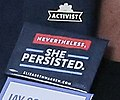 Nevertheless, She Persisted. Elizabeth Warren Senate campaign button (42974626980).jpg