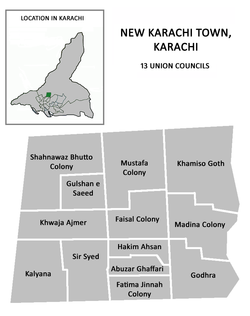 Union councils of New Karachi Town