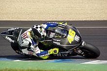 Rossi impegnato in dei test sul circuito di Jerez de la Frontera nell'autunno del 2008