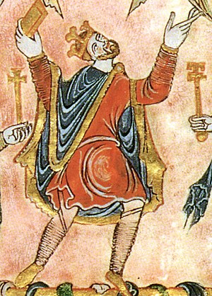 English medieval clothing - King Edgar of England from 959–975