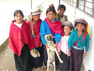 Cacha - Children and a dog in Cacha