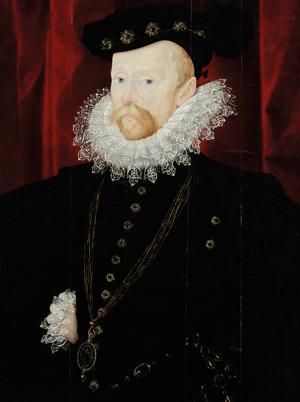 Amias Paulet - Sir Amias Paulet, 1576–78, attributed to Nicholas Hilliard.
