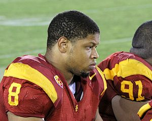 Nick Perry (American football) - Perry following USC's game against Oregon in 2010.