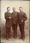 Nicolai Halvorsen, Olaf Hansson og Berent Schanche - 1886 - August Haraldsson - Oslo Museum - TM.T04707.jpg