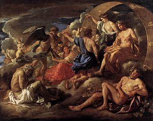 Hélios et Phaëton avec Saturne et les quatre saisons