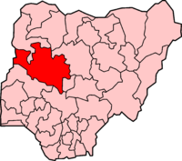 Location of Niger State in Nigeria