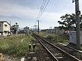 Nippo Main Line and Hayato Station from Hayatozuka Crossing.jpg