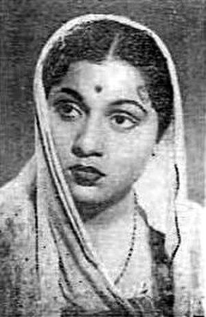 Nirupa Roy - Nirupa Roy in 1950 film Gadano Bel