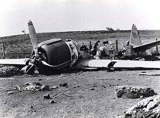 Niihau incident - Remains of Nishikaichi's Zero on December 17, 1941