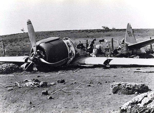 Nedskjutet japanskt plan