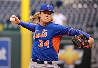 Noah Syndergaard - Syndergaard throwing batting practice during the World Series
