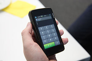 Nokia N900, dial mode.