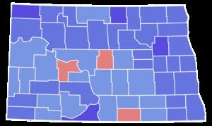 United States Senate election in North Dakota, 1976 - Image: North Dakota Senate Election Results by County, 1976