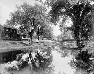 Pennsylvania Canal (North Branch Division) - North Branch Canal near Shickshinny in about 1900