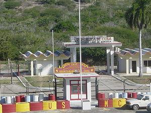Caimanera - Image: North east gate, Guantanamo Bay, Cuba