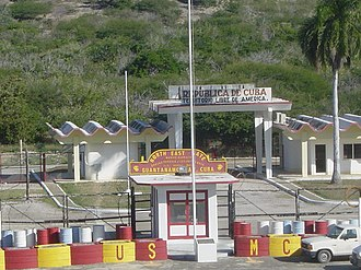 Caimanera - Image: North east gate, Guantanamo Bay, Cuba