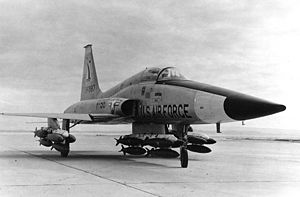 Northrop YF-5A (SN 59-4987) with a full load of bombs 060905-F-1234S-002.jpg