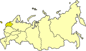 Northwestern economic region - Northwestern economic region on the map of Russia