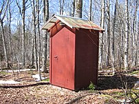 An outhouse exterior