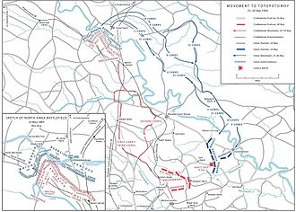 Overland Campaign - Movement to Totopotomoy, May 25–28, 1864, following the Battle of North Anna